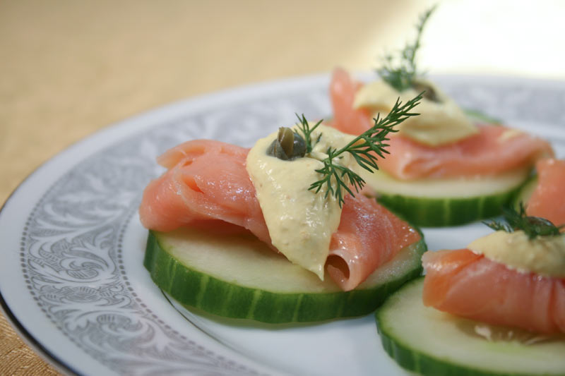 Cucumber Salmon Appetizer